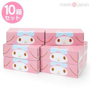 Japan Sanrio My Melody Tissue Paper 10 Box Set (Cute Pink)