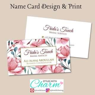 Name Card Customised
