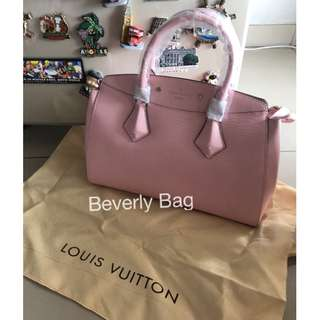 jual tas LV Brea Epi New LEATHER MIRROR - pink