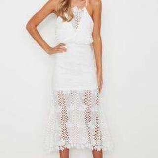 White Fox Boutique Lolita Crochet Dress White Size 8