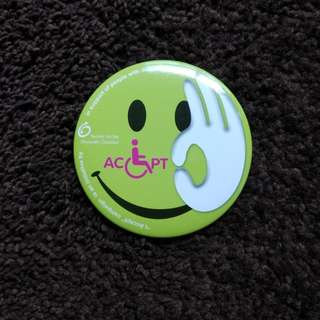 Badge - Society For The Physically Disabled