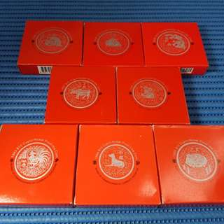 Special Pricing for these items: 1993 - 2000 Singapore Lunar Series $10 Cupro-Nickel Proof-Like Coin ( Price Per Piece )