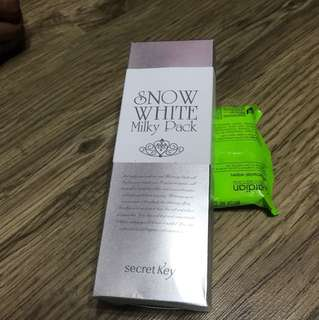 EXPIRE on 2020 Korean brand Snow White Milky Pack