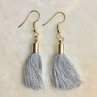 Trendy earrings for sale! - Silver Grey