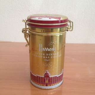 Britannica: Harrod's Golden Christmas Coffee Container