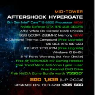 Aftershock Hypergate 2015 Artic White
