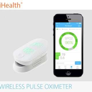 美國 iHealth PO3 Wireless Pulse Oximeter 智能血氧計  (血氧,血氧計,脈搏,心率,FDA,CE,ISO)