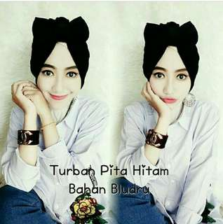 Turban pita bludru