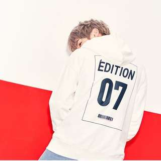 Quick Preorder >> authentic only LAP KOREA WANNA ONE KANG DANIEL HOODIE WHITE