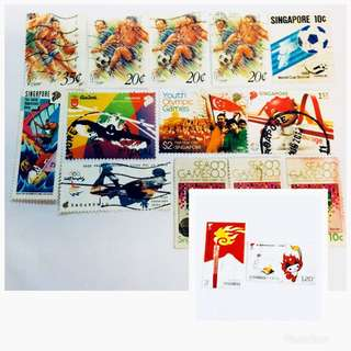 Sports Stamps (China & S'pore)