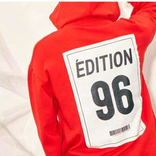 Quick Preorder >> Authentic only LAP KOREA HOODIE RED WANNA ONE KANG DANIEL