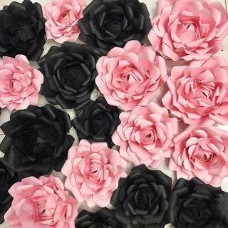 DIY Paper Rose for Party/Backdrop