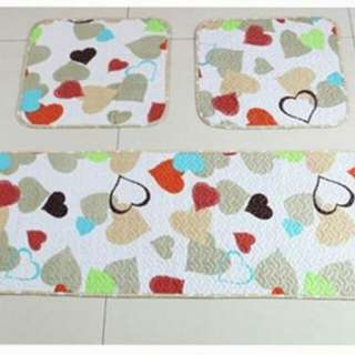 Patchwork Car Seat Cover Cushion 3in1