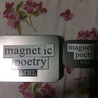 Magnetic poetry (English)