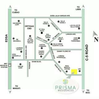 2BR unit in Prisma Residences Condo in Pasig Blvd corner C5 near BGC, Ortigas