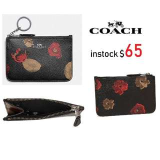 READY STOCK SG - BRAND NEW - AUTHENTIC  Coach MINI SKINNY ID CASE IN FOREST BUD PRINT COATED CANVAS F11849
