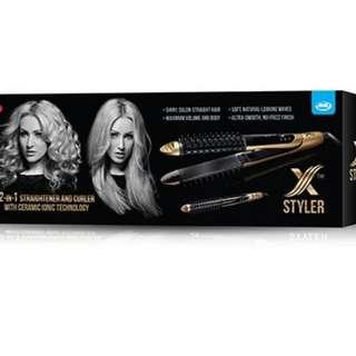JML X-Styler 2-in-1 Straightener and Curler