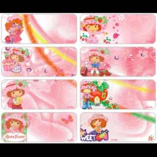 Name Stickers - Strawberry Shortcake