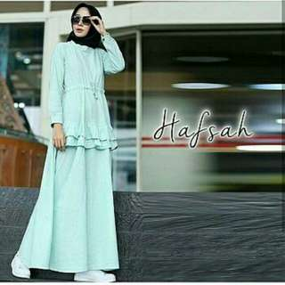 HAFSAH DRESS  BALOTELLY FIT L TANPA PASMINA