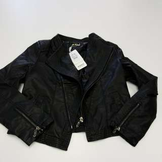 Woman faux leather jacket
