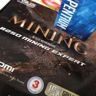 Asus B250 mining board + G4400 processor
