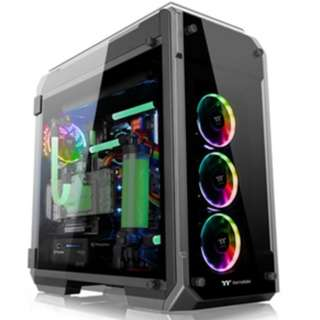 Casing View 71 TG RGB/Black/Win/SPCC/Tempered Glass*4/Color Box/Riing 140mm RGB Fan*3