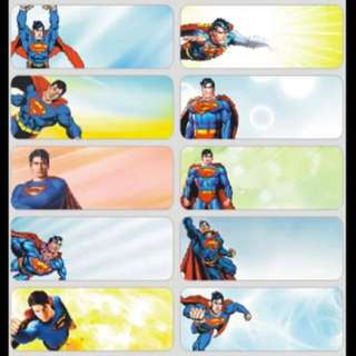 Name Stickers - Superman