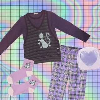 紫色假兩件上衣🐱