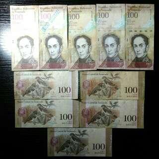 外國銀紙十張