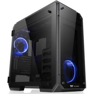 Casing View 71 TG/Black/Win/SPCC/Tempered Glass*4/Color Box/Riing 140mm Blue Fan*2
