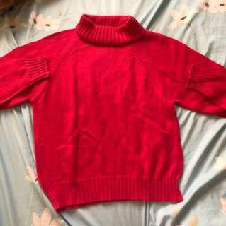 Fuschia pink sweater