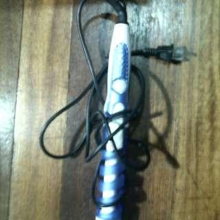 Blue curler
