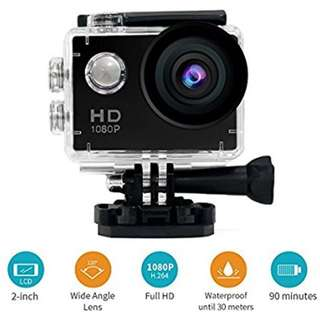 Sports 1080P HD Action Camera A9 (30m WATERPROOF + 120 DEGREE WIDE ANGLE LENS + WATERPROOF CASE etc.)