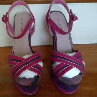 Call It Spring Platform Heels in Fuschia and Violet