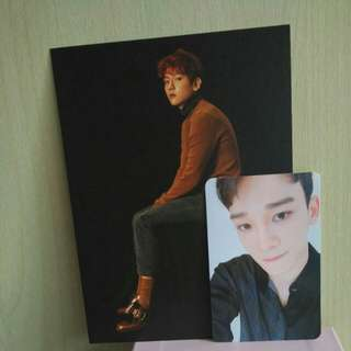 [WTT] EXO FOR LIFE WINTER SPECIAL 2016 CHEN PHOTOCARD + BAEKHYUN POSTCARD TO LAY PHOTOCARD+POSTCARD