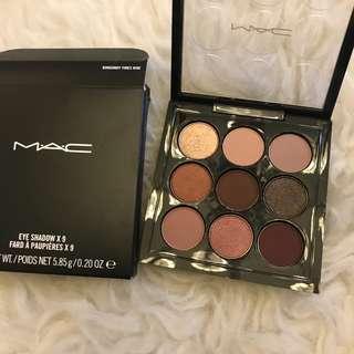 mac x9 eyeshadow burgundy nine times