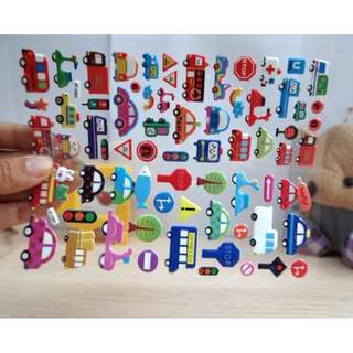 Assorted Cars and Vehicle Stickers (3D / Bubble)