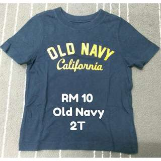 Old Navy T-shirt for casual wear, 2T/24M (Preloved) - RM10