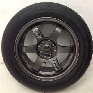 15 '' Sport Rim With Tyre 4x100 4x114.3(SR906)