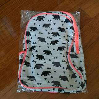 Cotton On bear print backpack