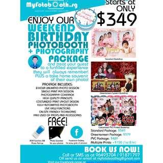 BIRTHDAY PHOTOBOOTH + PHOTOGRAPHY SERVICE