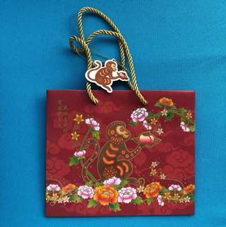Credit Suisse Chinese New Year Paper Bag : Year of the Monkey