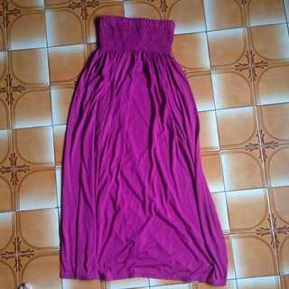 🚚 桃紫紅 平口連身洋裝 洋裝