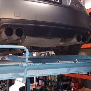 WRX STI GRF Fujitsubo Catback Exhaust
