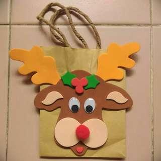 Handmade Reindeer Head Paper Bag