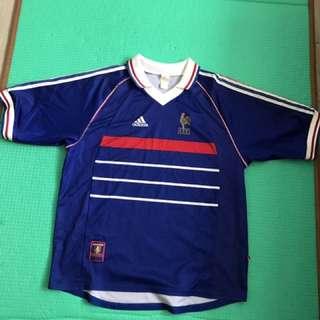 經典98年法國主場球衣大碼