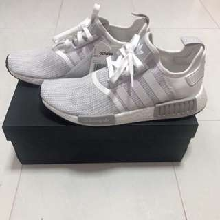 low priced ec8d0 4f7f2 ... US 9.5 adidas NMD R1 white blizzard ...