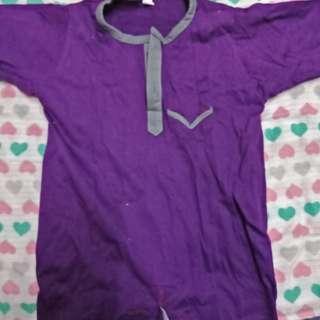 Baju melayu purple