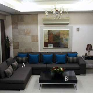 Sectional Sofa and Tables For Sale
