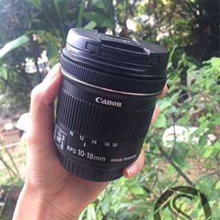 Canon efs 10mm-18mm wide lens